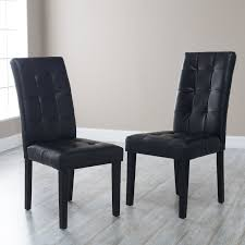 leather dining chairs modern. Modern Bonded Leather Parsons Dining Chairs