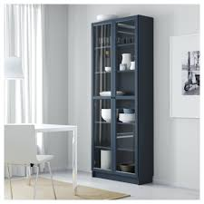 glass door bookcases low blair sliding bookcase white