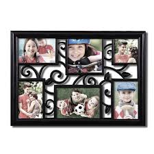 adeco decorative black plastic filigree wall hanging collage picture photo frame