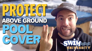 how to protect your above ground pool cover from winter weather you