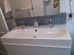bathroom sinks lyndon 47 inch wall hung two faucet trough with trough bathroom sink with two faucets plan