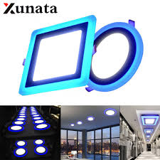 Double Color Led Panel Light Us 4 78 33 Off 3w 6w 12w 18w Double Color Led Panel Light Round Square Bathroom Outdoor Recessed Led Ceiling Panel Light Ac85 265v Painel Led In Led