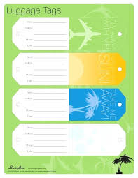 Word Luggage Tag Template Choice Image Design Ideas Blank