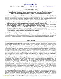 Resume Format For Hoteliers Or Hotel General Manager Resume Samples
