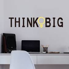 office decorative. Think Big Quotes Vinyl Wall Stickers Living Room Decorative Decal Inspiration Of Office