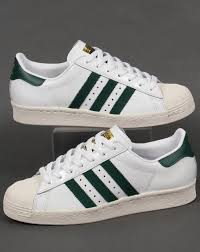 adidas 80s. adidas superstar 80s trainers white/green