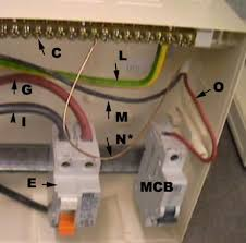 installing a consumer unit instructions on wiring a consumer live connected to mcb neutral going to rcd neutral terminal block
