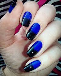 Lovely Black And Blue Nail Designs 64 For Your Home Design Modern ...