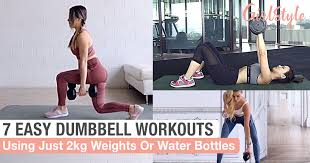 7 easy dumbbell workouts for women to