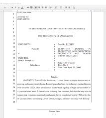 California Pleading Template For Google Docs The Droid Lawyer