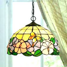 stained glass hanging lamp shades and lamps vintage pendant tiffany light shade