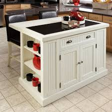 Shop Copper Grove Willis Distressed White Board Kitchen Island With