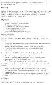 Resume For Office Assistant Cool Box Office Assistant Resume Template Best Design Tips