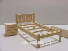 wooden barbie doll furniture. Cheap Bjd, Buy Quality Dal Pullip Directly From China Bjd Doll Suppliers: BJD Miniatura Furniture DIY Wood Hand Assembled Model Small Bed Bedside Wooden Barbie