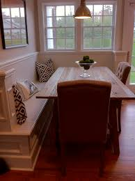 corner bench with dining table this could be perfect as a half wall in our dining room e and would allow for integrating the elements design
