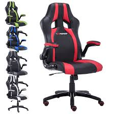 Office Chair With Adjustable Arms Gtforce Roadster 2 Sport Racing Car Office Chair Leather