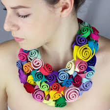 fl textile and polymer clay jewelry