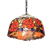 flower theme stained glass hanging light in tiffany style stained glass hanging lamps stained glass hanging