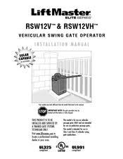 chamberlain rsw12v manuals