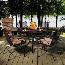 deck wrought iron table. Fascinating Outdoor Wrought Iron Furniture Image-Incredible Construction Deck Table E
