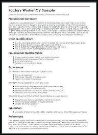 Factory Worker Cv Sample Resume For Process Worker Atlas Opencertificates Co