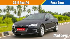 2016 Audi A4   First Drive   Motown India - YouTube