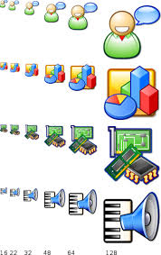 icon computing an example of computer icon set design nuvola icons come in six different sizes