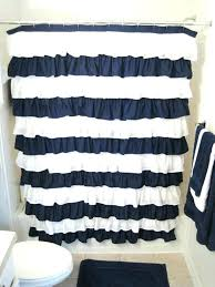 navy and white shower curtain blue and white shower curtains coffee and white striped shower curtain