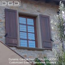 dynamic garage doorExterior Shutters  Architectural Exterior Shutter provided by