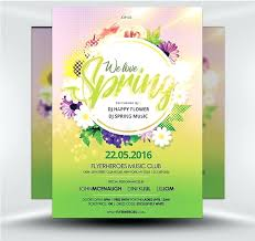 Spring Event Flyer Spring Event Flyer Template For Festival Word