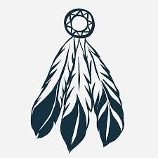 Eagle Feather Dream Catcher Inspiration Eagle Head With Tribal Feathers Hawk Mascot Graphic Portrait