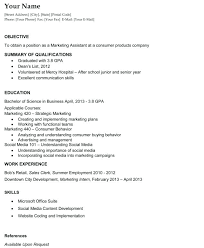 Marketing Resume Objective Examples The Best Career Objective