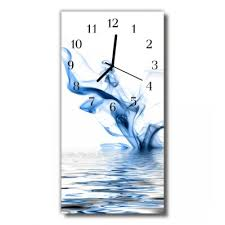 glass wall clock modern decorative