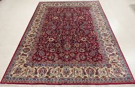 details about 9 x 12 persian mashadd hand knotted wool red blue ivory fine oriental rug carpet
