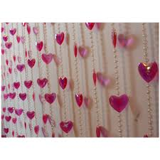 back to make door beads curtain from crystals