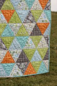 Baby Boy Quilt Triangle Quilt Backyard Baby | Quilts and Quilting ... & Baby Boy Quilt Triangle Quilt Backyard Baby Adamdwight.com