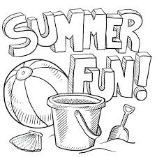 Summer Coloring Pages Printable Summer Fun Coloring Pages Kids