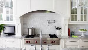 brilliant herringbone marble backsplash transitional kitchen morgan canada calcuttum calacattum tumbled mosaic lowe grey uk