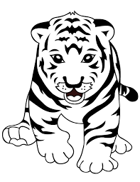 Small Picture Tigers Coloring Pages Coloring Kids
