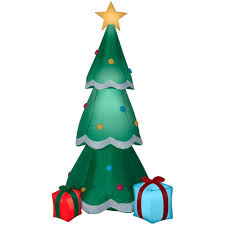 Details About Home Accents Holiday Christmas Tree Inflatable Decor Lighted Airblown 6 5 Feet