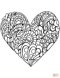heart color pages. Wonderful Color Click The Zentangle Heart Coloring Pages To View Printable Version Or Color  It Online Compatible With IPad And Android Tablets In Color Pages C