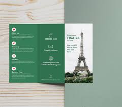 How To Make Travel Brochure Green Photo Centric Trifold Travel Brochure Idea Venngage Brochure