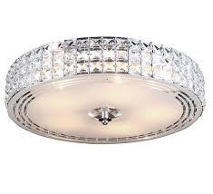 Kristall Deckenleuchte Deckenlampe Lüster Kronleuchter Leuchte Lampe Rund Kristallleuchte 45 Cm 5x E14