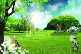 Psd Download Park Landscape Psd Free Material Free Download