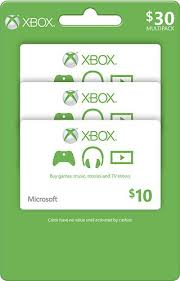 10 xbox gift card 3 pack