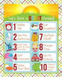 Morning Routine Chart For 5 Year Old Free Printable Childrens Schedules Kids Schedule Morning