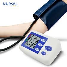 sphygmomanometer. nursal portable arm blood pressure monitor medical sphygmomanometer monitors health care heart rate detection memory function