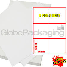 labels 6 per page 200 sheets of printer address labels 6 per sheet page ebay