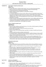 Logistics Management Specialist Resume Fascinating Logistics Management Specialist Resume Prepasaintdenis 13