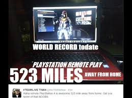 PS4 REMOTE PLAY WORLD RECORD 523 MILES away from HOME playing